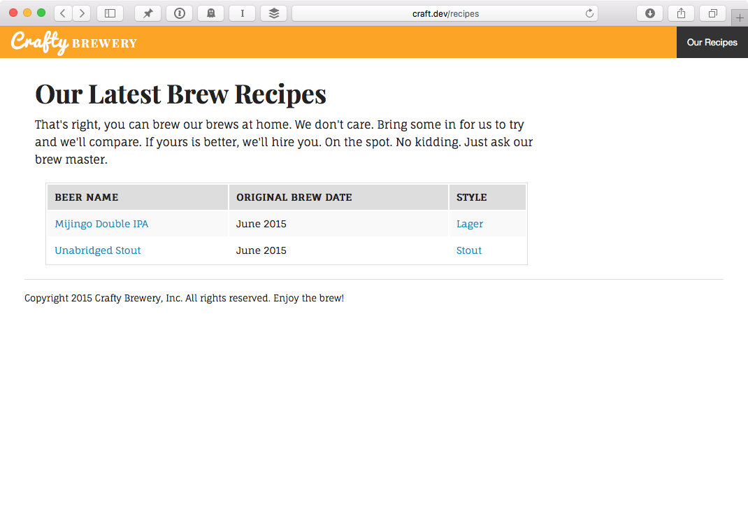 brewery plugin recipes